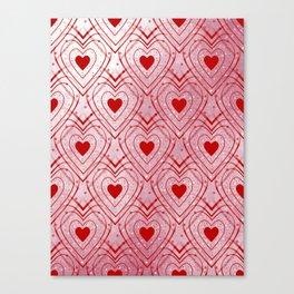 Heartbeat - Romantic - Valentines Day Canvas Print