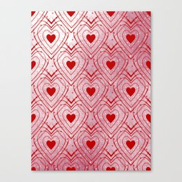 Heartbeat - Romantic - Happy Valentines Day Canvas Print