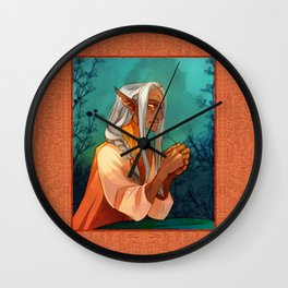 Gia the Midwife Wall Clock