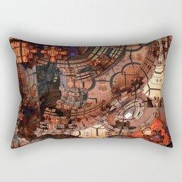 Fractal Art - Spaceship Rectangular Pillow