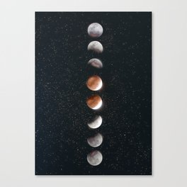 Phases of the Moon II Canvas Print