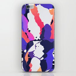The purple color is turning peachy iPhone Skin