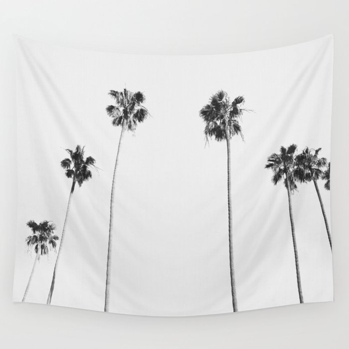 Black & White Palms Wandbehang