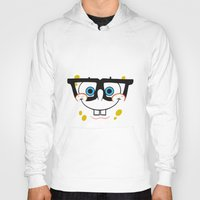 spongebob Hoodies featuring Spongebob Nerd Face by Cute Cute Cute