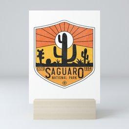 Vintage Saguaro National Park Retro Arizona Tucson Cactus Souvenir Mini Art Print
