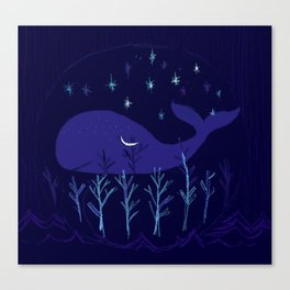 Whale Night Canvas Print