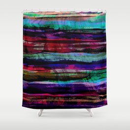 bohemian abstract painting Shower Curtain