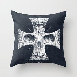 Cross Skull 2.0 Throw Pillow