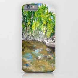 Florida Mangrove Tea Water in the Everglades iPhone Case
