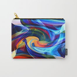 This Kiss Digital Abstract Art By Annie Zeno Carry-All Pouch