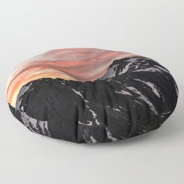 Pink Sky - Cascade Mountains - Nature Photography Floor Pillow