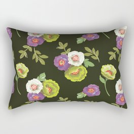 green floral Rectangular Pillow