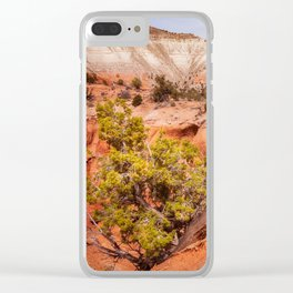 Hanging on the cliff at Kodachrome Basin State Park Clear iPhone Case