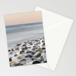 Black stones at the sea Stationery Cards
