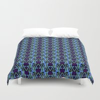 neon Duvet Covers featuring NEON by Wagner Campelo