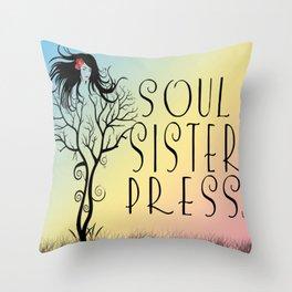Soul Sister Press, LLC logo by Brenda Gonet Throw Pillow