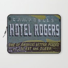 Idaho Falls - Vintage Hotel Rogers Better Place To Eat And Sleep Laptop Sleeve