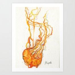 Orange Jellyfish Art Print