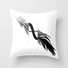 Infinity Feather Throw Pillow