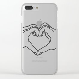 Heart hand Clear iPhone Case