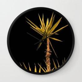 yukka palms in the night Wall Clock