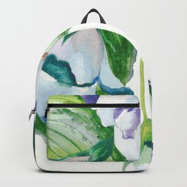Relax,Tropical Floral Watercolor Backpack