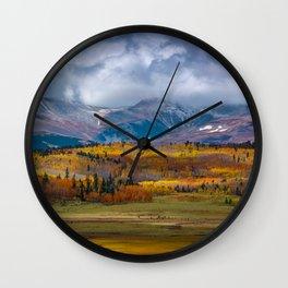 Fall in the Rockies Wall Clock