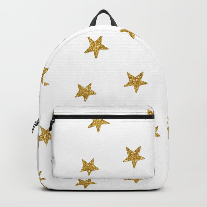 Merry christmas-Stars shining brightly-Gold glitter pattern Backpack