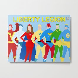 Liberty Legion Minimalist Metal Print