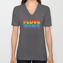 Love Wins  Simple Unisex V-Neck