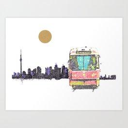 505 Street car Art Print