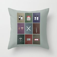 X-Files colors Throw Pillow