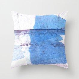Corn flower blue Throw Pillow