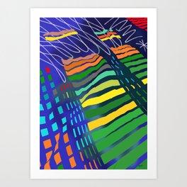 Cloud Raps 2 - Will Hoffman Art Print