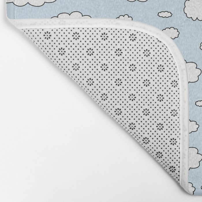 Celestial sky with little clouds of caricatures Bath Mat