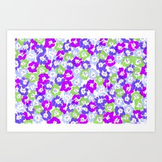 Morning Glory - Violet Multi Art Print