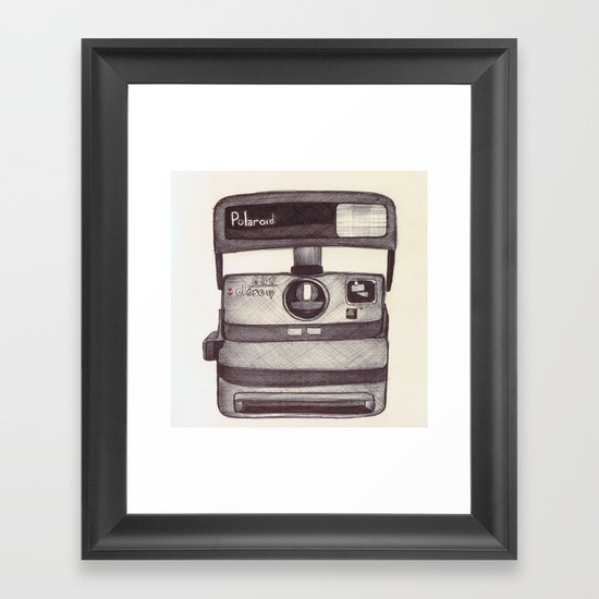 Ballpoint Palaroid Camera Framed Art Print