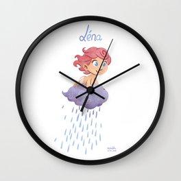 Léna (drawn by Karim Friha) Wall Clock