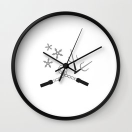 ninja weapon Wall Clock