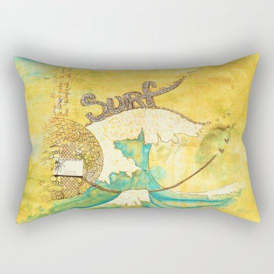 Surf avec la VIE Rectangular Pillow