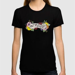 Floral Introvert Banner T-shirt