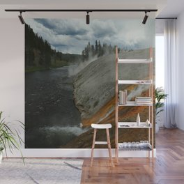 Thermal Geyser Runoff Into Firehole River Wall Mural