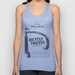 Bicycle Thieves - Movie Poster for De Sica's masterpiece. Neorealism film, fine art print. Unisex Tank Top
