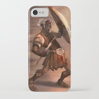 gladiator iPhone & iPod Cases featuring Gladiator by normalitea
