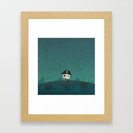Small Pirate Captain Framed Art Print