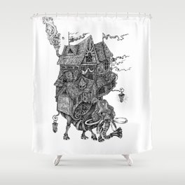 the wandering library 2 Shower Curtain