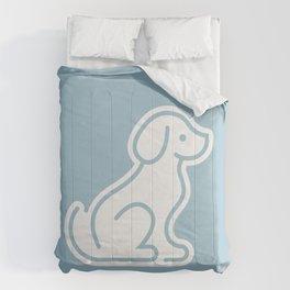 Dog Blue #2 Comforters