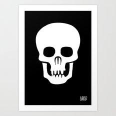EYE SKULL Art Print