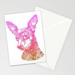 Min Pin Pink Mosiac Stationery Cards