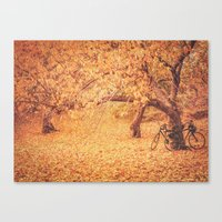 new york city Canvas Prints featuring Autumn - New York City by Vivienne Gucwa
